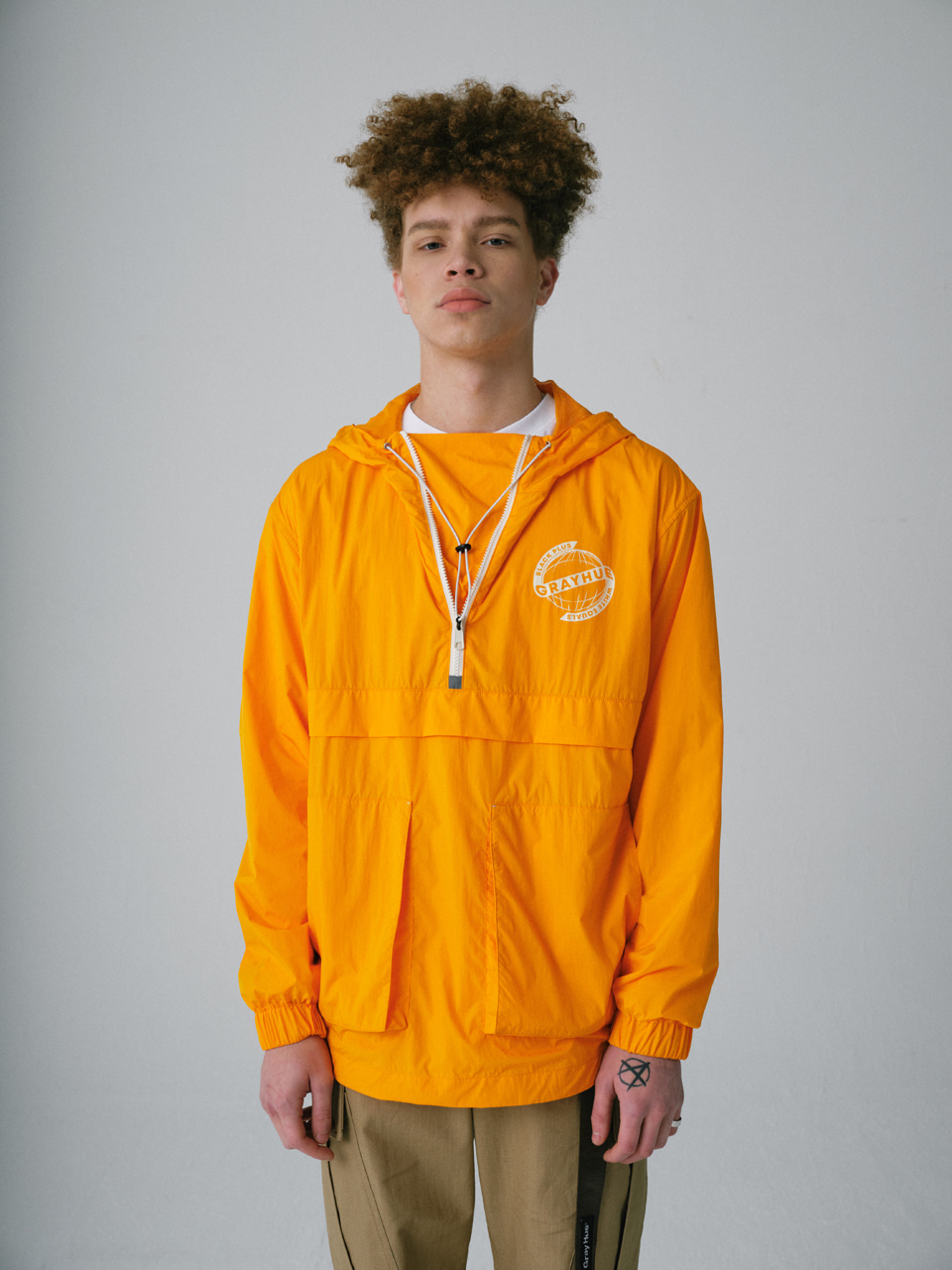 그레이휴TWO POCKET ANORAK orange