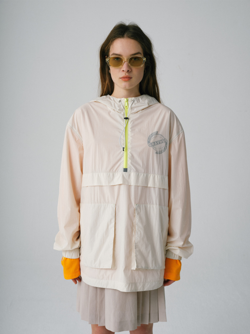 그레이휴TWO POCKET ANORAK ivory