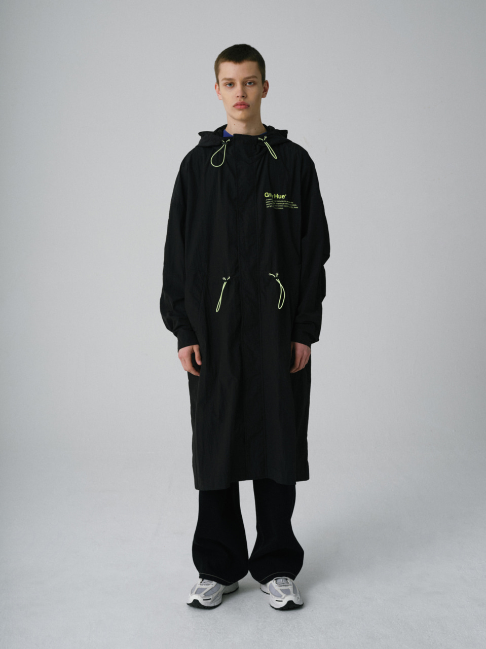 그레이휴PHILOSOPHY LONG PARKA black
