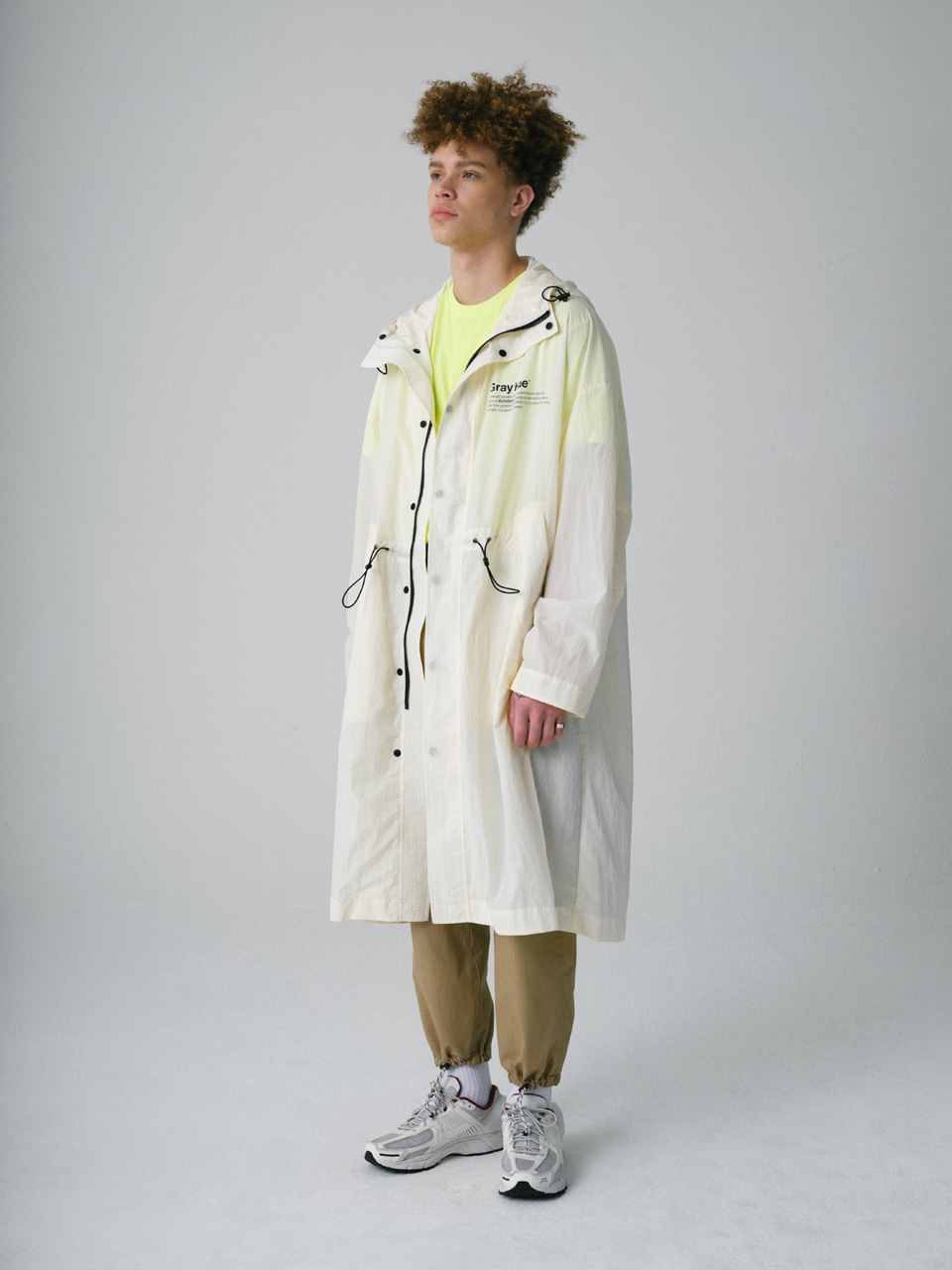그레이휴PHILOSOPHY LONG PARKA ivory