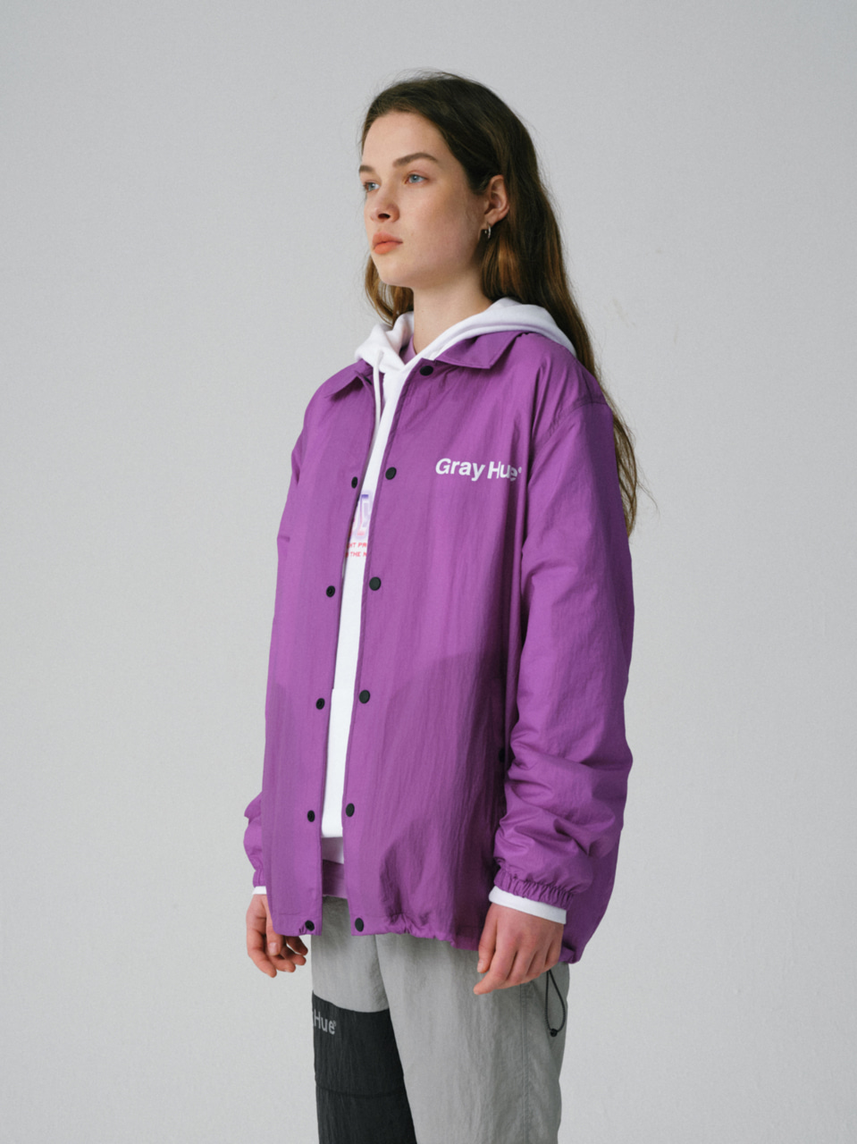 그레이휴BPWE COACH JACKET purple
