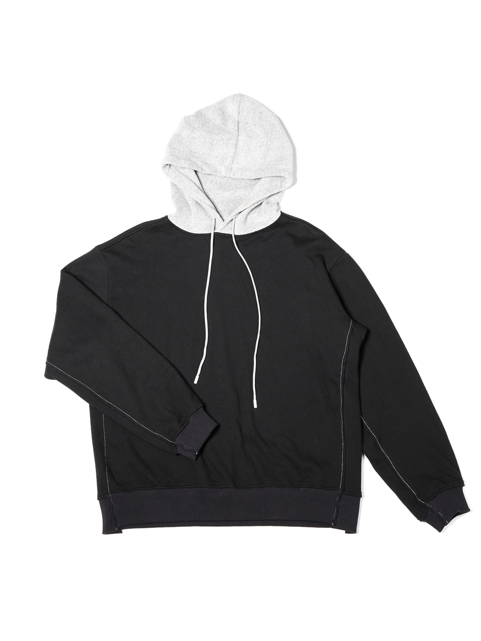 그레이휴Gray Blocked Hoodie, Black