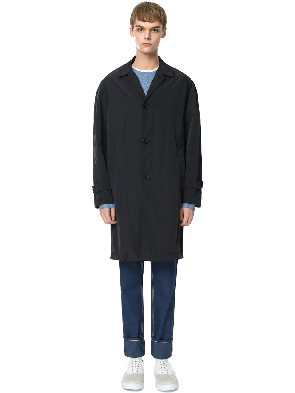 그레이휴Windproof Mac Coat, Navy