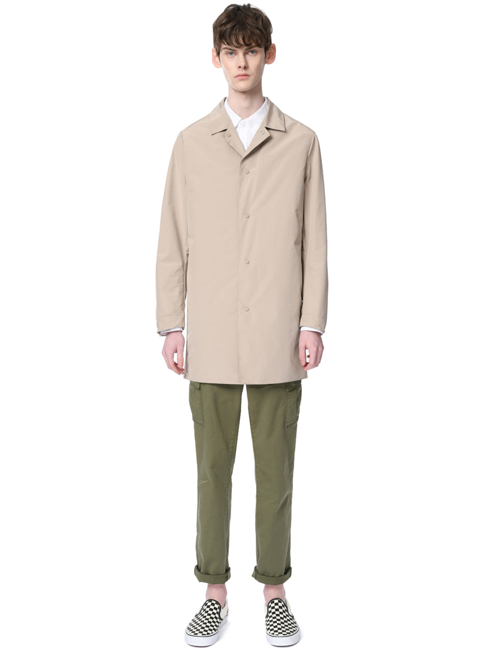 그레이휴Seam Sealed Packable Mac Coat, M/Beige