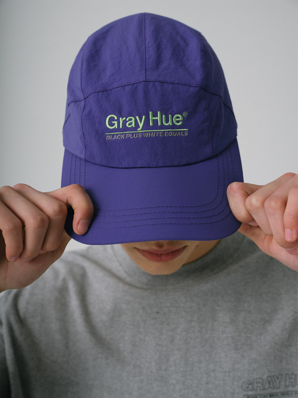 그레이휴GRAY HUE CAMP CAP purple