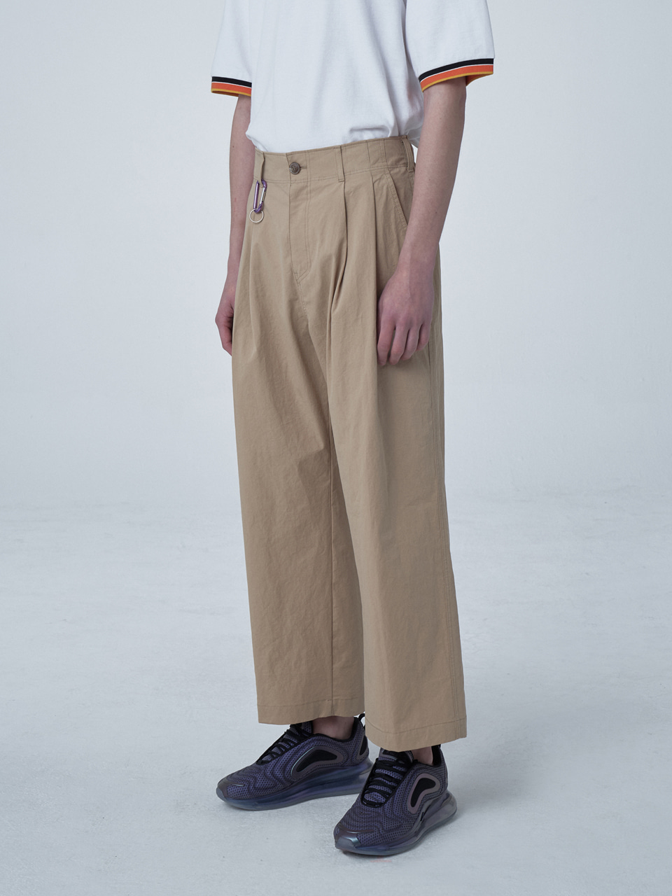 그레이휴WIDE BANDING PANTS medium beige