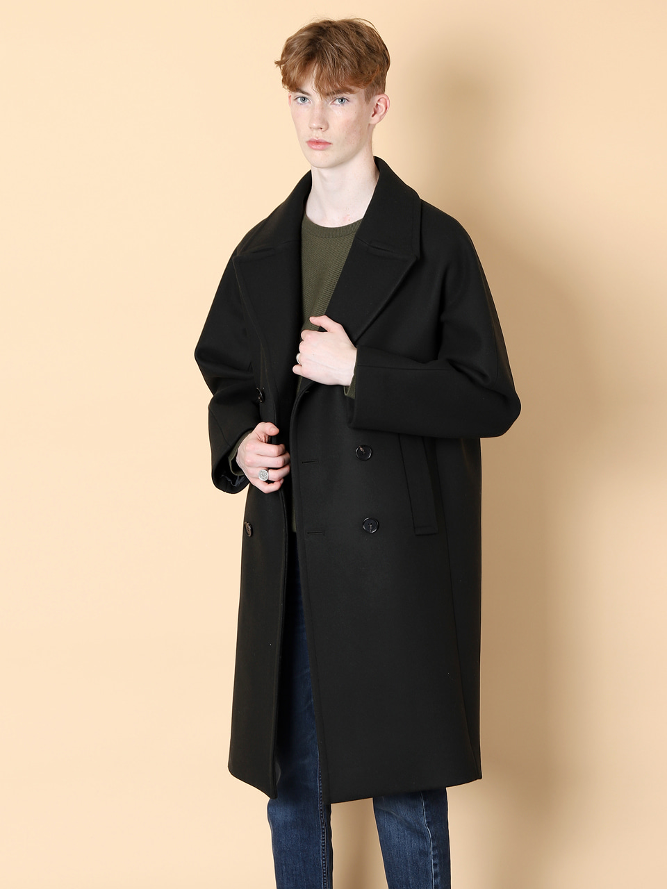 그레이휴Long Double Coat, Khaki