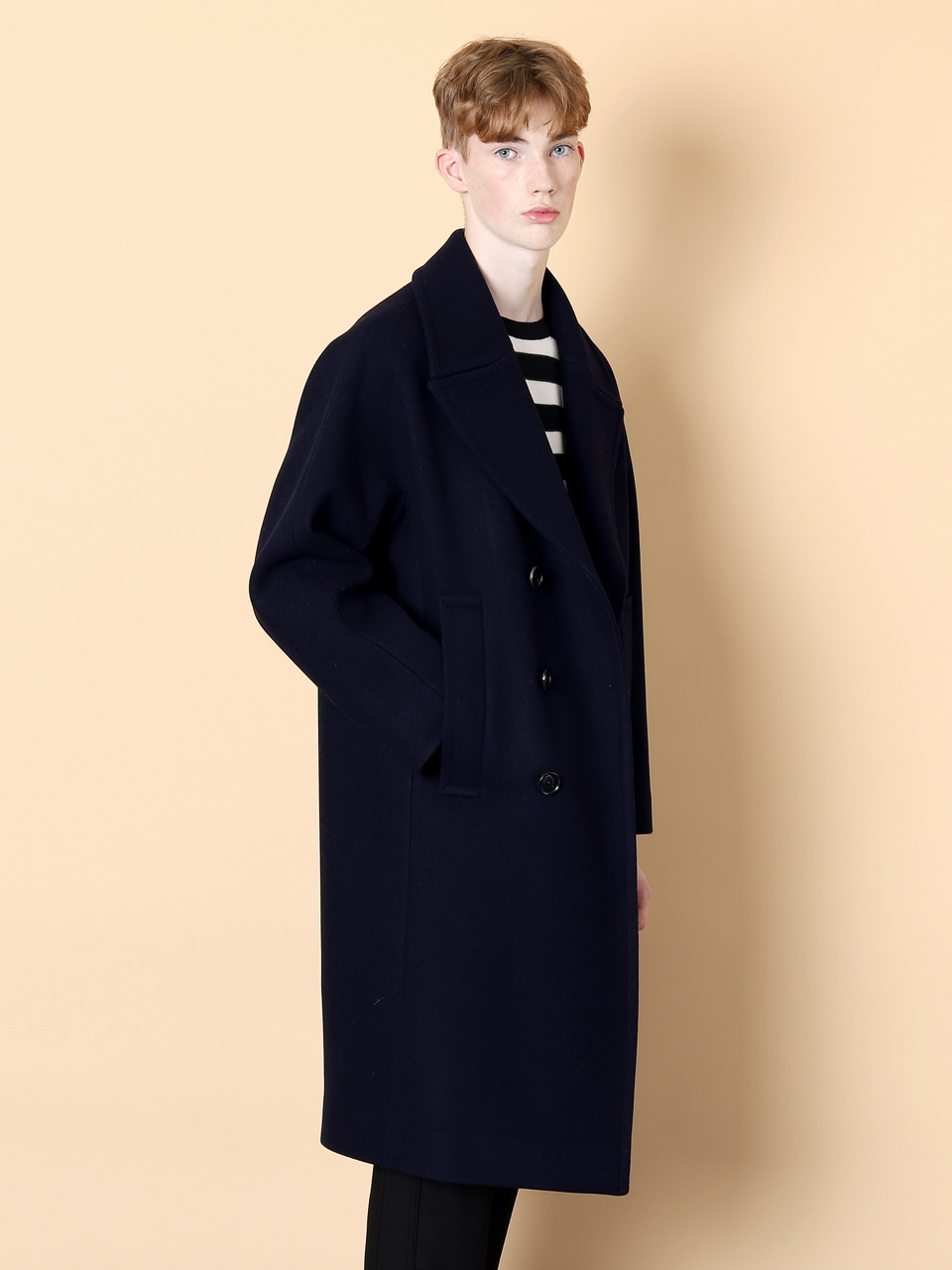그레이휴Long Double Coat, Navy