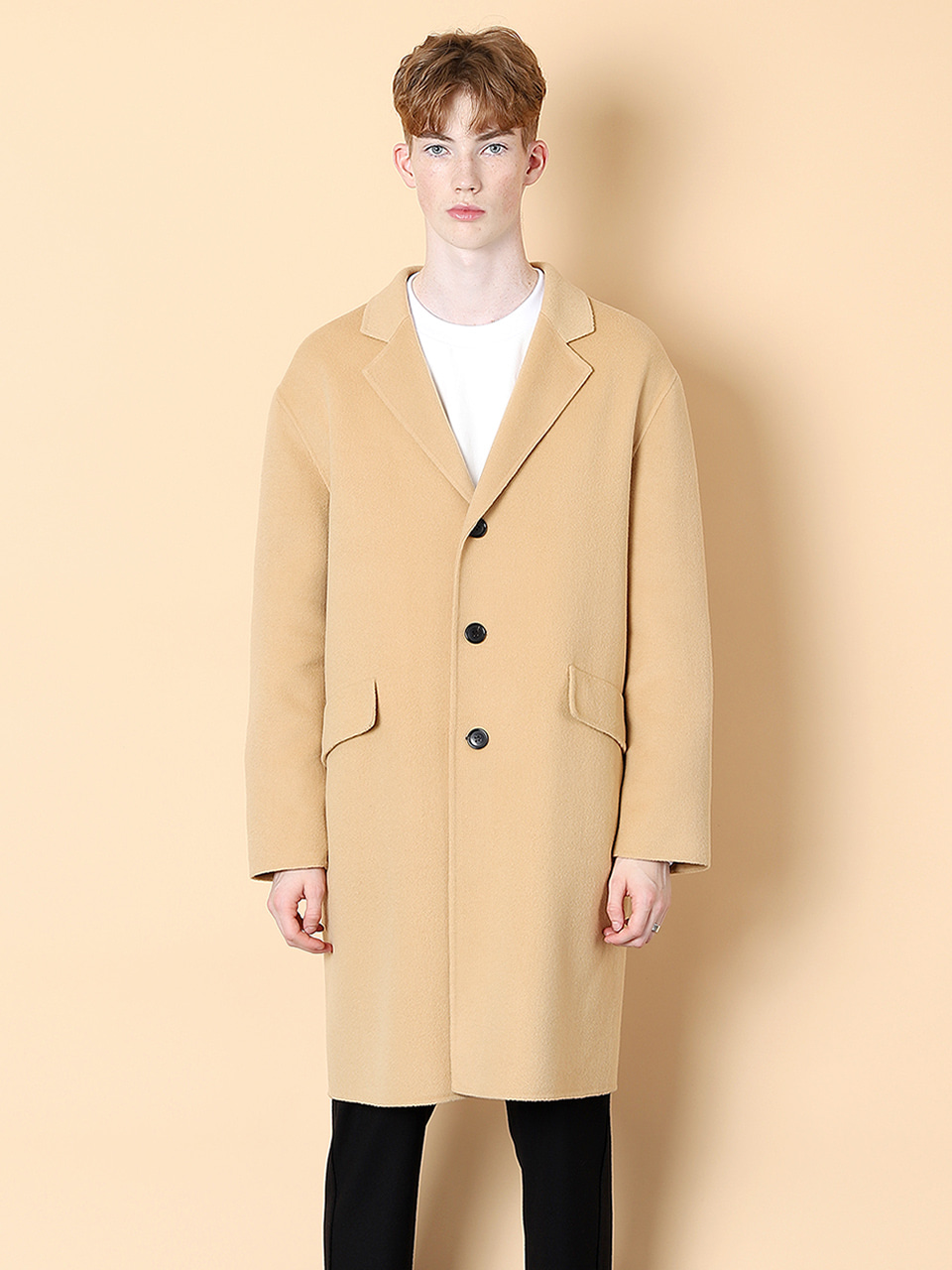 그레이휴Three Botton Handmade Coat, Beige