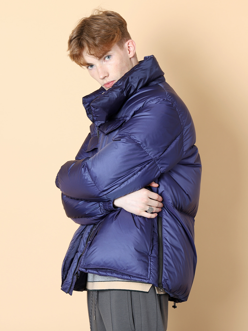 그레이휴Light Short  Goose Down Parka, Royal Blue