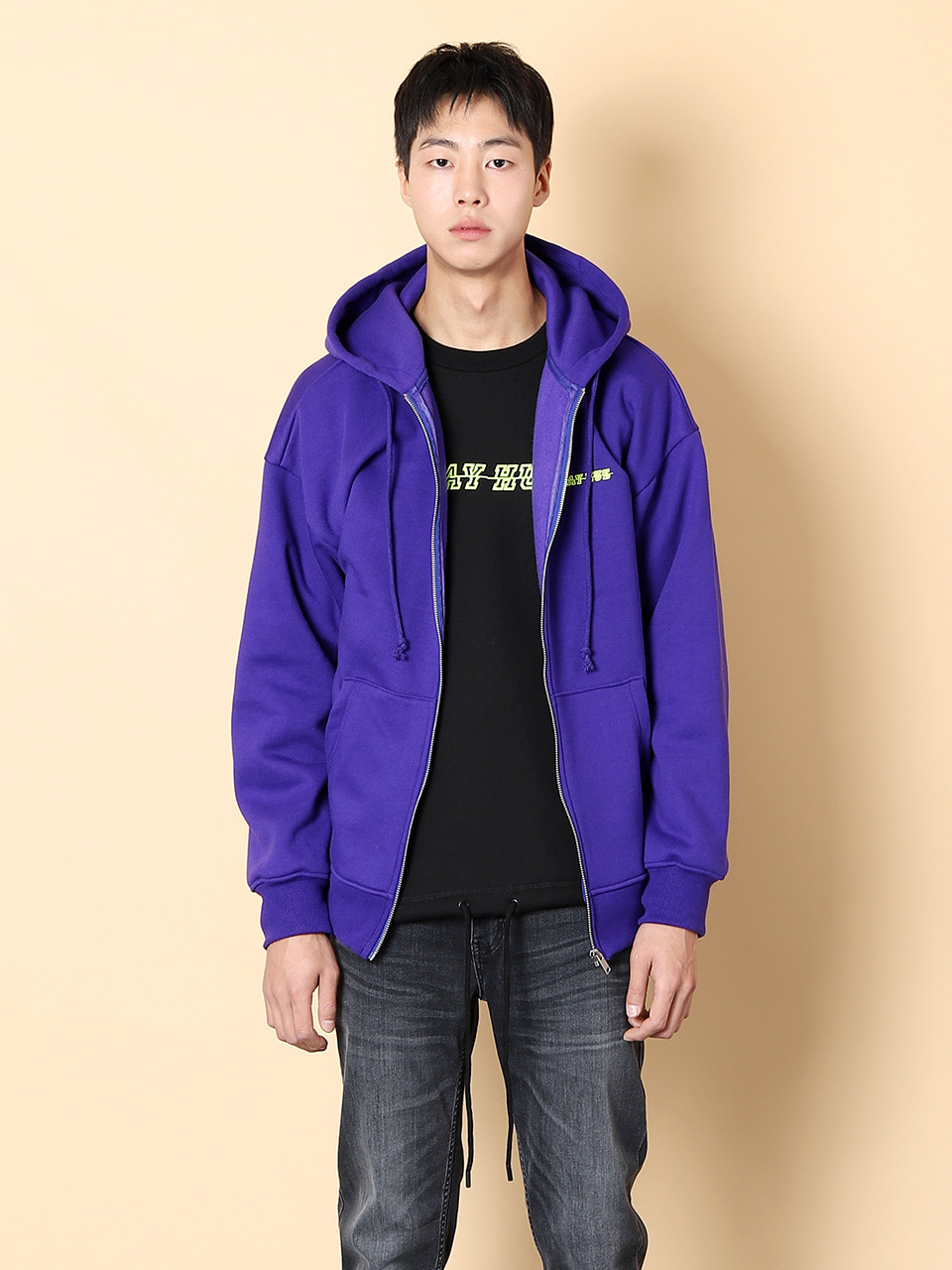 그레이휴Logo Zip Up Hood, Purple