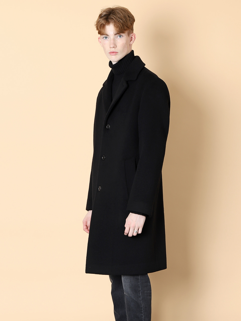 그레이휴Three Botton Coat, Black