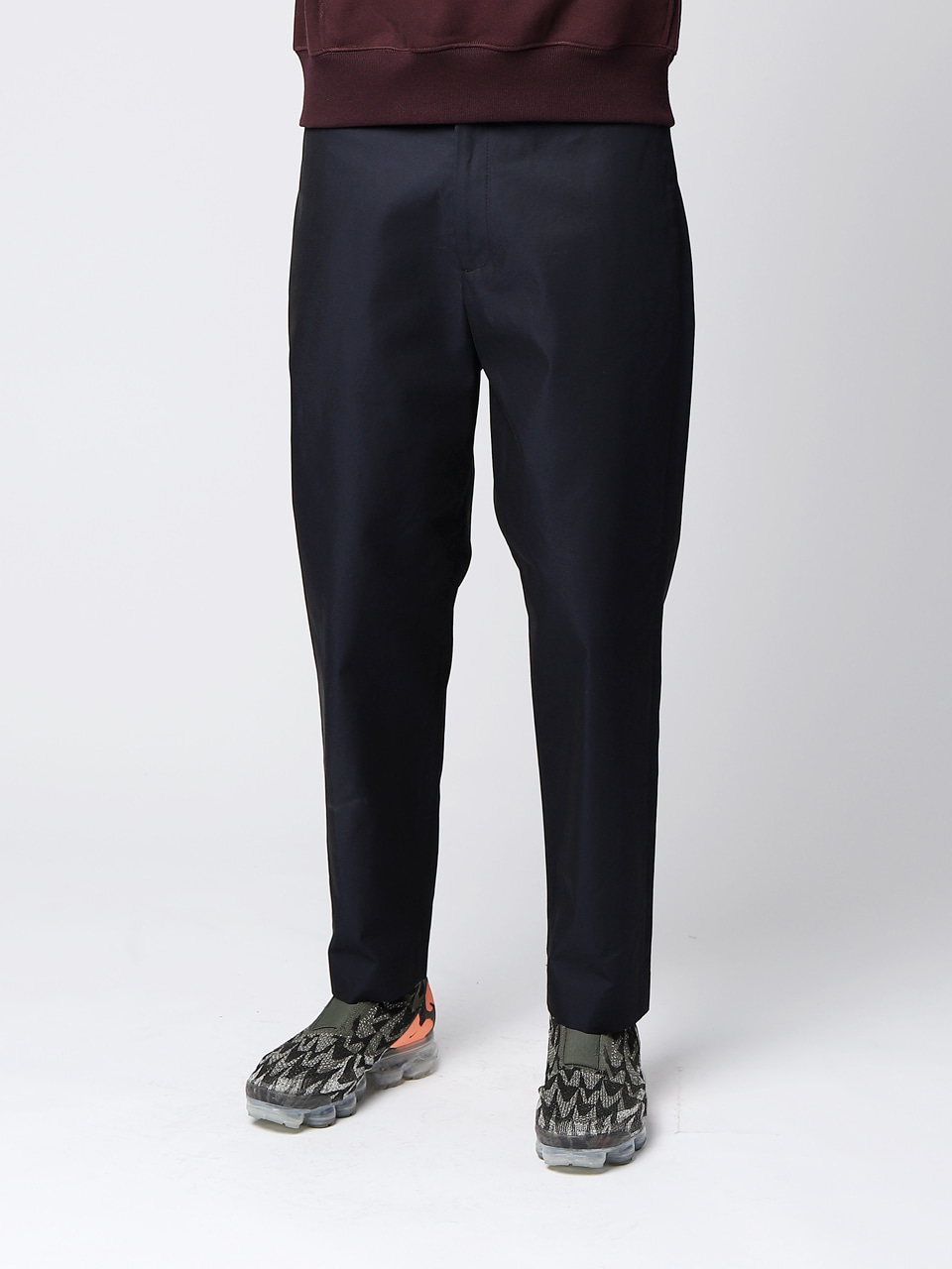 그레이휴Cotton Twill Loose Pants, Navy