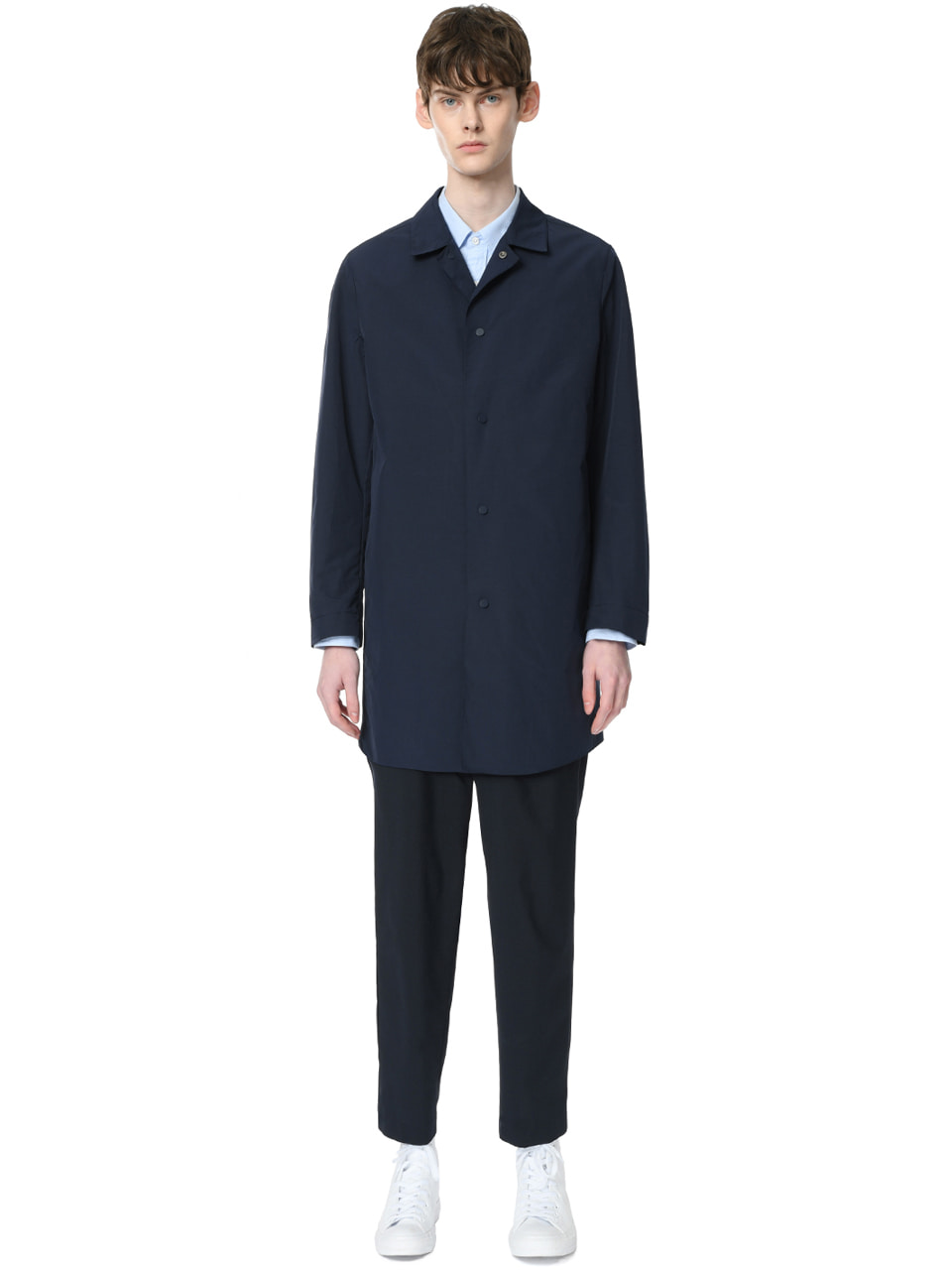 그레이휴Seam Sealed Packable Mac Coat, Navy